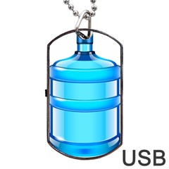 Large Water Bottle Dog Tag Usb Flash (two Sides)