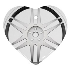 Wheel Skin Cover Heart Ornament (two Sides)