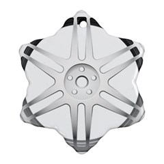 Wheel Skin Cover Snowflake Ornament (two Sides)