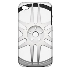 Wheel Skin Cover Apple Iphone 4/4s Hardshell Case (pc+silicone)