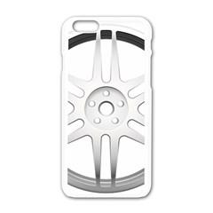Wheel Skin Cover Apple Iphone 6/6s White Enamel Case