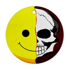 Skull Behind Your Smile Ornament (round)