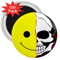 Skull Behind Your Smile 3  Magnets (100 Pack)
