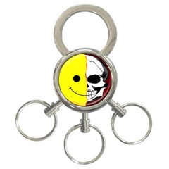 Skull Behind Your Smile 3 Ring Key Chains