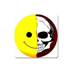Skull Behind Your Smile Square Magnet