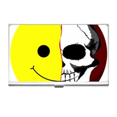 Skull Behind Your Smile Business Card Holders