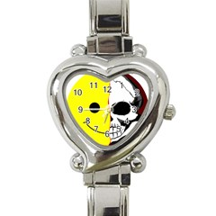 Skull Behind Your Smile Heart Italian Charm Watch