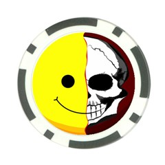 Skull Behind Your Smile Poker Chip Card Guard