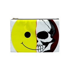 Skull Behind Your Smile Cosmetic Bag (medium)