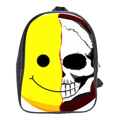 Skull Behind Your Smile School Bags(large)