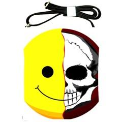 Skull Behind Your Smile Shoulder Sling Bags