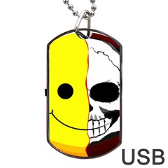 Skull Behind Your Smile Dog Tag Usb Flash (one Side)