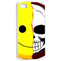 Skull Behind Your Smile Apple Iphone 4/4s Seamless Case (white)