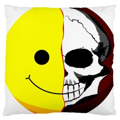 Skull Behind Your Smile Large Cushion Case (two Sides)