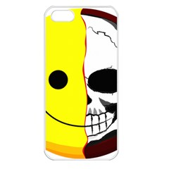 Skull Behind Your Smile Apple Iphone 5 Seamless Case (white)