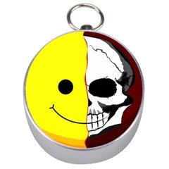 Skull Behind Your Smile Silver Compasses