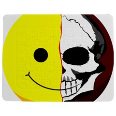 Skull Behind Your Smile Jigsaw Puzzle Photo Stand (rectangular)