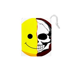 Skull Behind Your Smile Drawstring Pouches (xs)