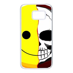 Skull Behind Your Smile Samsung Galaxy S7 White Seamless Case
