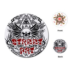 Tattoo Tribal Street Art Playing Cards (round)