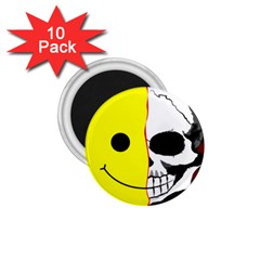 Skull Behind Your Smile 1 75  Magnets (10 Pack)