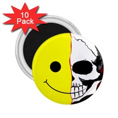 Skull Behind Your Smile 2 25  Magnets (10 Pack)