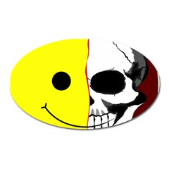Skull Behind Your Smile Oval Magnet