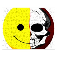 Skull Behind Your Smile Rectangular Jigsaw Puzzl
