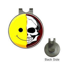 Skull Behind Your Smile Hat Clips With Golf Markers