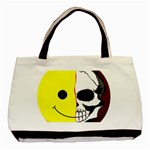 Skull Behind Your Smile Basic Tote Bag Front