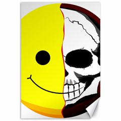 Skull Behind Your Smile Canvas 12  X 18