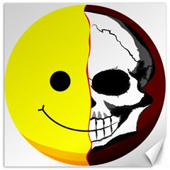 Skull Behind Your Smile Canvas 20  X 20