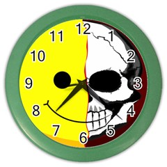 Skull Behind Your Smile Color Wall Clocks