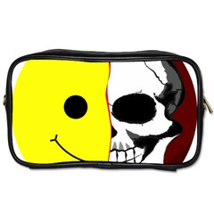 Skull Behind Your Smile Toiletries Bags 2 Side