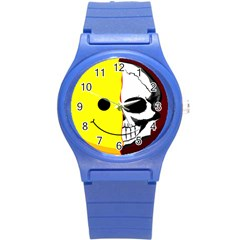 Skull Behind Your Smile Round Plastic Sport Watch (s)
