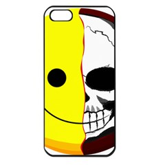 Skull Behind Your Smile Apple Iphone 5 Seamless Case (black)