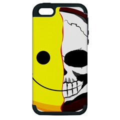 Skull Behind Your Smile Apple Iphone 5 Hardshell Case (pc+silicone)