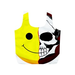 Skull Behind Your Smile Full Print Recycle Bags (s)