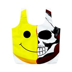 Skull Behind Your Smile Full Print Recycle Bags (m)