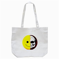 Skull Behind Your Smile Tote Bag (white)