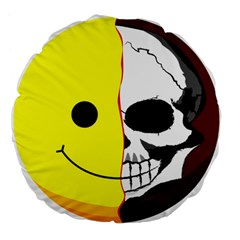 Skull Behind Your Smile Large 18  Premium Flano Round Cushions