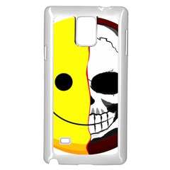 Skull Behind Your Smile Samsung Galaxy Note 4 Case (white)