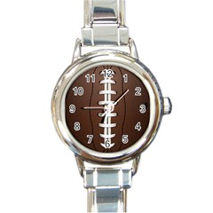 Football Ball Round Italian Charm Watch