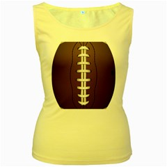 Football Ball Women s Yellow Tank Top