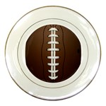Football Ball Porcelain Plates Front