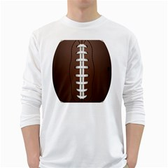 Football Ball White Long Sleeve T Shirts
