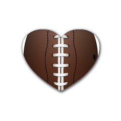 Football Ball Rubber Coaster (heart)