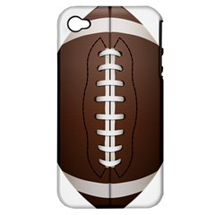 Football Ball Apple Iphone 4/4s Hardshell Case (pc+silicone)