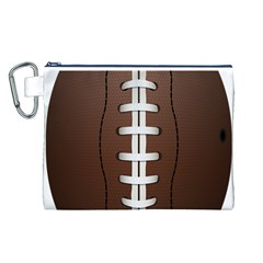 Football Ball Canvas Cosmetic Bag (l)