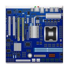 Classic Blue Computer Mainboard Tile Coasters